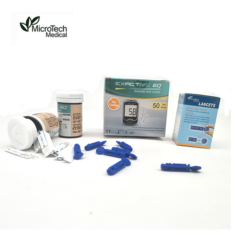 MICROTECH MEDICAL Test strips Needles Blood Glucose Meters Accessories Diabetic Test Blood Sugar Monitor Accessory EQ Impulse(China)