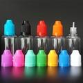 100PCS/Lot 30ML PET Plastic Dropper Bottle Childproof Caps Clear Transparent Eye Dropper Bottle For E liquid with long fine tips