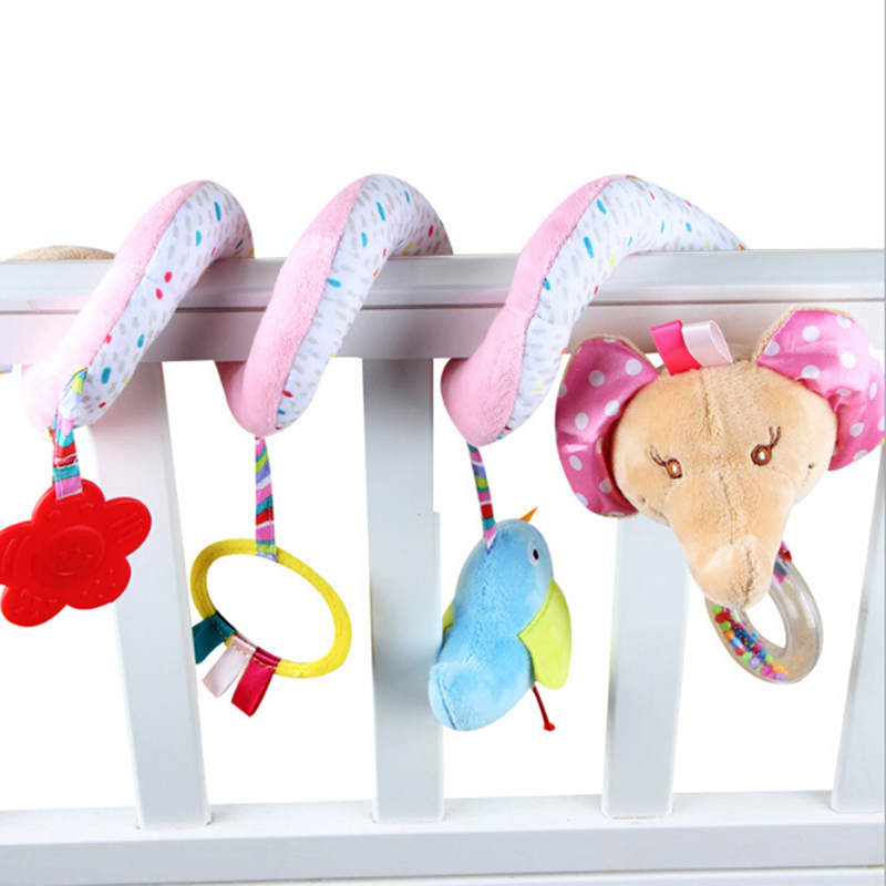 Newborn Baby Activity Spiral Bed &Stroller Toys Elephant Shape Baby Bed Hanging Toys Educational Baby Rattle Toys For Children