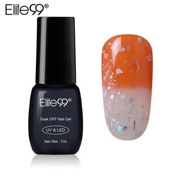 Elite99 Nagel Gel Polnisch 7 ml Farbe Ändern UV LED Tränken Weg Von Temperatur Gel Lack Veränderbar Chameleon Lange anhaltende gel Lacuqer