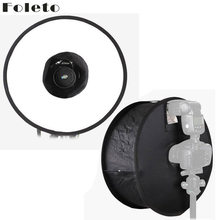 "Foleto flash diffuser softbox 45 cm 18 ""flash light studio nhẫn round có thể gập lại reflector cho canon nikon yongnuo godox speedlite(China)"