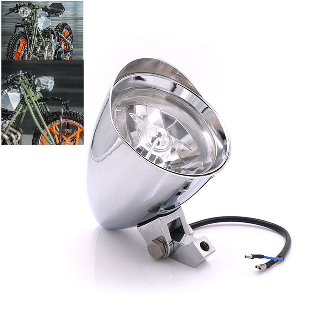 """7/"""" Black Hi//Lo 35W halogen Headlight Front Lamp Bullet for Harley Chopper Bobber"""
