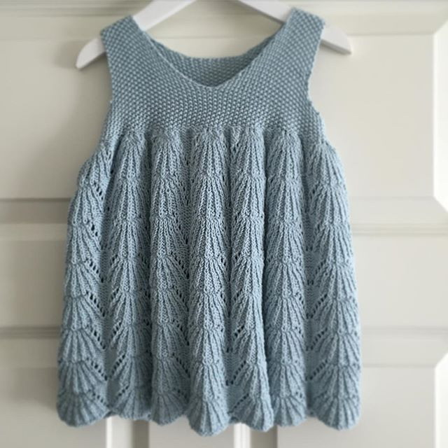 Fashion Girl Knit Dress Embroidery Baby Girl Dresses Blue Kids ...