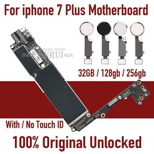 Image 1 - Original unlocked for iphone 7 plus Motherboard With Touch ID/ Without Touch ID,for iphone 7P Mainboard With Chips Logic board