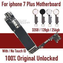 Placa base desbloqueada para iphone 7 plus, Original, con Touch ID/sin Touch ID, con Chips, placa lógica