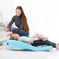 Дети мыть волосы кресло для сна складной умывальник пластиковые экологически чистые PP детская мебель Товары для ванной комнаты