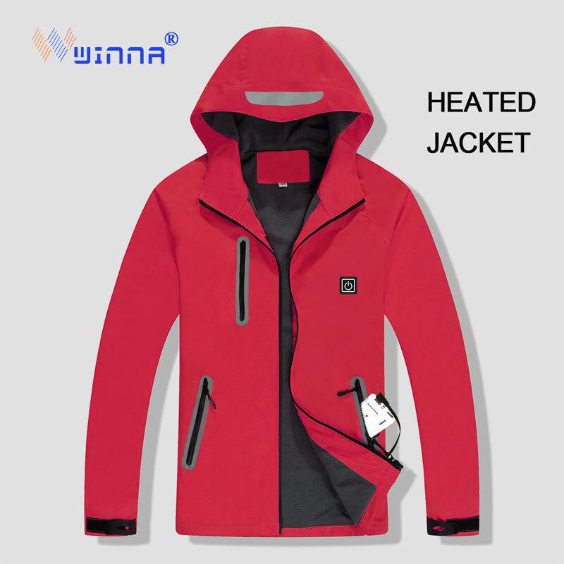 Veste chauffante imperméable thermique vestes hommes hiver extérieur randonnée coupe-vent Chaquetas Hombre Camping femmes coupe-vent Ski manteau