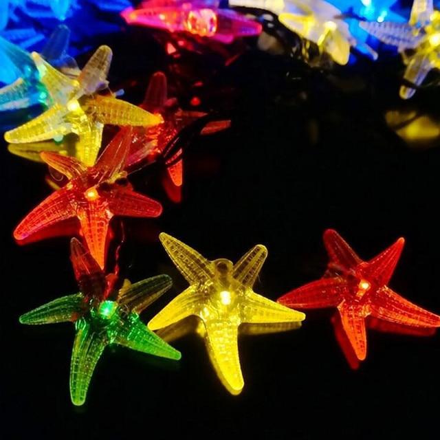 Новинка LED Light-up Игрушки 1 Строка Star Fish Игрушка Лампы для Партии