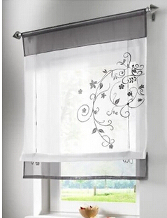 1 Stück Schöne gestickte Patchwork kann Liftring Raffrollo Dekoration Witwe Vorhang, Küche / Café / Tür Vorhänge