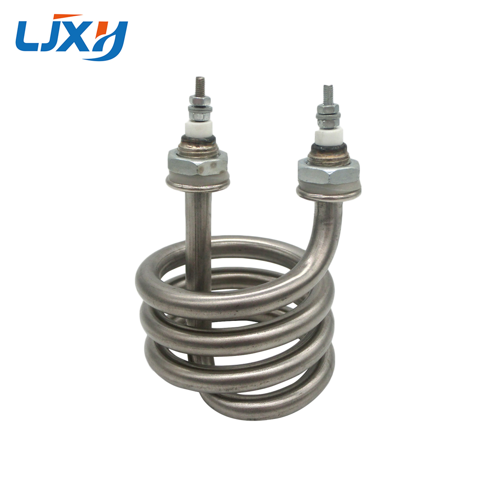 LJXH 220V/380V Electric Water Distiller Heating Heater Element 2.5KW/3KW/4.5KW Spiral Stainless Steel Immersion Heater Pipe ljxh double u shape tube electric water heater element rice car electric heat pipe 304 stainless steel heating tube 220v 380v