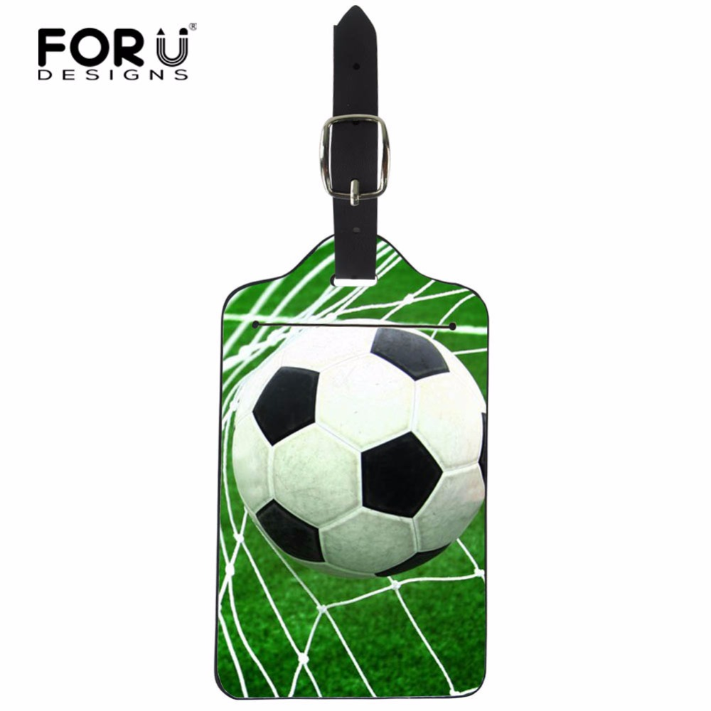 FORUDESIGNS Travel Accessories Luggage Tag Creative Ball PU Leather Suitcase ID Address Holder Baggage Boarding Tags Portable