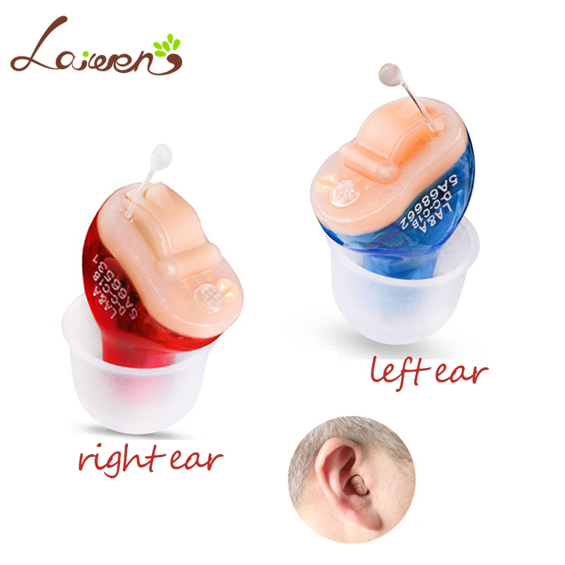 LAIWEN CIC Digital Hearing Aids 2 Channel Mini Tuneable Sound Amplifier In The Ear Portable Invisible CIC Hearing Aid