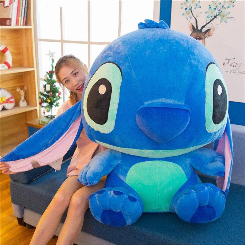 35-80cm Giant Cartoon Stitch Lilo Stitch Plush Toy Big Size Doll Children Stuffed Toy For Baby Birthday Christmas Gift
