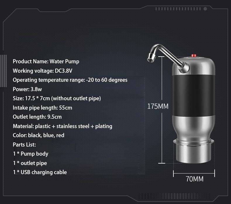 1800mAh Batterie Tragbare Reise Wireless Water Dispenser - Küche, Essen und Bar - Foto 2