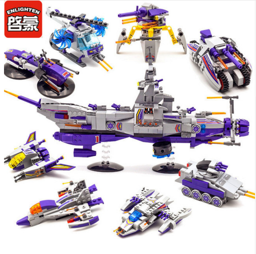 Enlighten Models Building toy Compatible with Lego E1402 683pcs Space War Blocks Toys Hobbies For Boys Girls Model Building Kits все цены