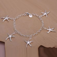 wholesale silver plated bracelet,925 fashion Silver jewelry charm bracelet