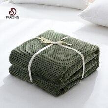 Parkshin manta de piña verde moderna de franela, sofá de avión, manta de uso para adultos, funda de viaje para coche, manta para sofá
