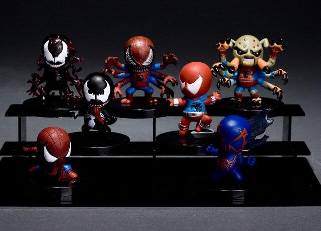 Marvel clássico Super herói homem - aranha incrível / Peter Parker Venom Super bonito PVC Figure brinquedos solto