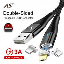 A.S Double-sided Micro USB Cable Magnetic USB Cable For iPho