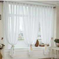 2015 High Quality Simple Modern White Sa Tulle Curtains Organza Sheer Curtain For Living Room