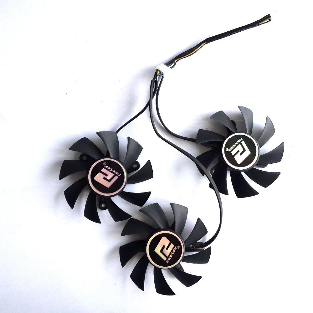 PLA08015D12HH 3 pcs/lot 75mm 42x42x42mm DC12V 0.35A refroidisseur ventilateur de refroidissement pour Dylan dataland R9 290/290X carte Graphique