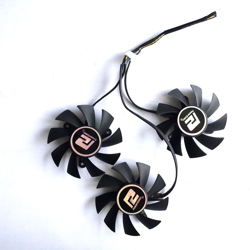 PLA08015D12HH 3pcs/lot 75mm 42x42x42mm DC12V 0.35A cooler fan cooling for Dylan dataland R9 290/290X Graphics card free shipping pld09210d12hh dc12v 0 40a computer radiator video card cooler fan for dataland hd7950 vga card cooling