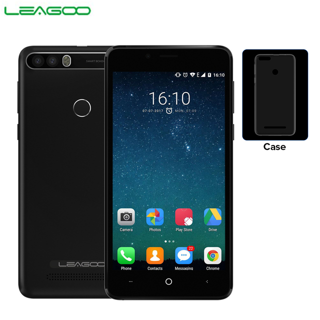 "LEAGOO KIICAA POWER 3G Mobile Phone Android 7.0 Dual Back Camera 4000mAh 2GB+16GB MT6580A Quad Core 5.0"" Fingerprint Smartphone"