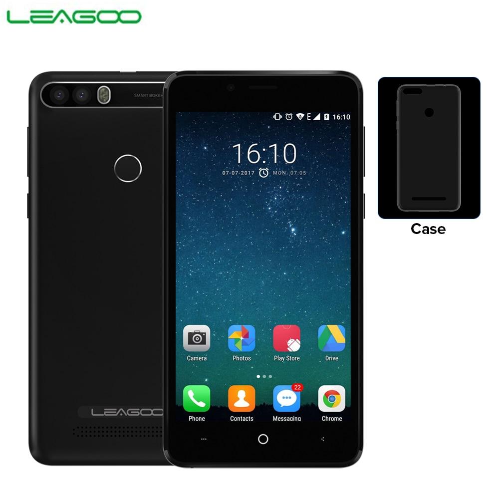 LEAGOO KIICAA PUISSANCE 3g Mobile Téléphone Android 7.0 Double Retour Caméra 4000 mah 2 gb + 16 gb MT6580A quad Core 5.0 D'empreintes Digitales Smartphone