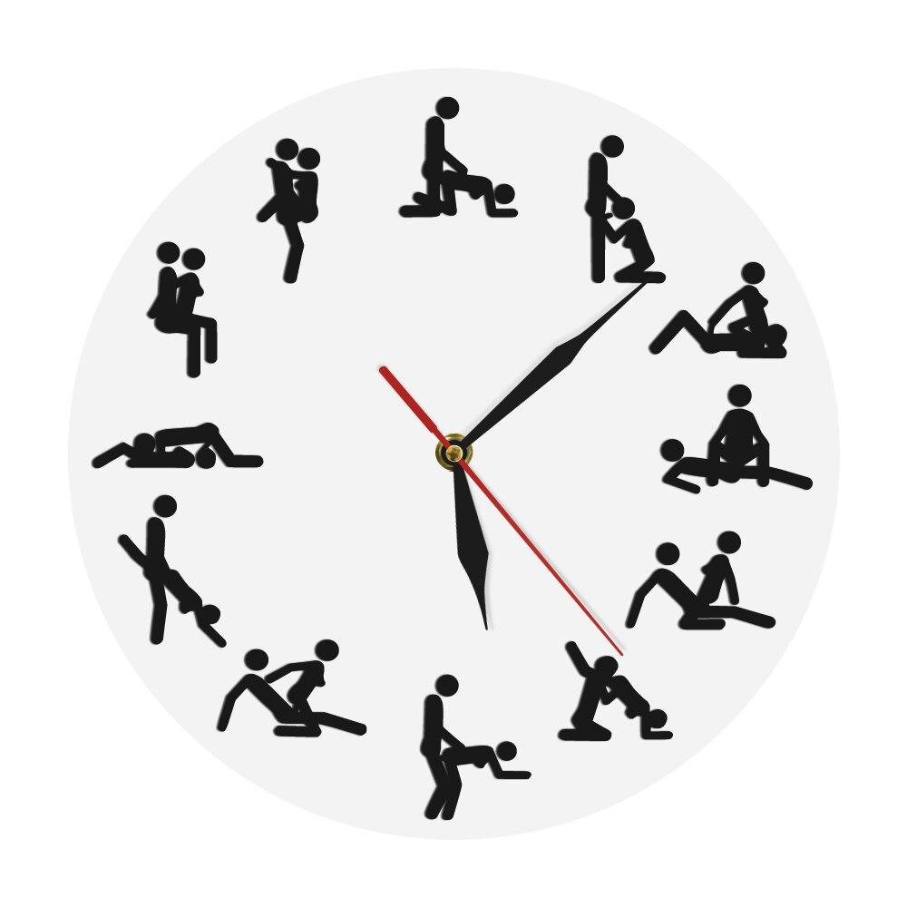 24 heures sexe Positions horloge murale sexe montre murale Zegar Kamasutra horloge sexe montre drôle vilain horloge murale adulte