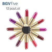 צבע יפה 12 יח'\סט הרבה קרם לחות שפתון קוסמטיקה הסט שפתונים גלוס לאורך זמן
