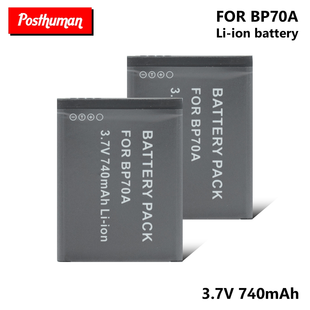 Rechargeable Digital 740mAh BP70A Battery Bateria Batteries For Samsung SL50 SL600 SL605 SL630 ST61 ST65 ST66 AQ Series