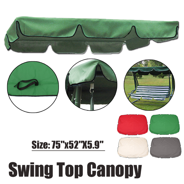 Universal Swing Top Cover Polyester Canopy Replacement Outdoor Indoor for Patio Garden Awning Canopy Chair Sun Shade Accessories