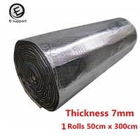 100%New Aluminum Foil Car Body interior SoundProofing Deadening Heat Insulation Acoustic Foam Glass Fibre Automotive Accessories