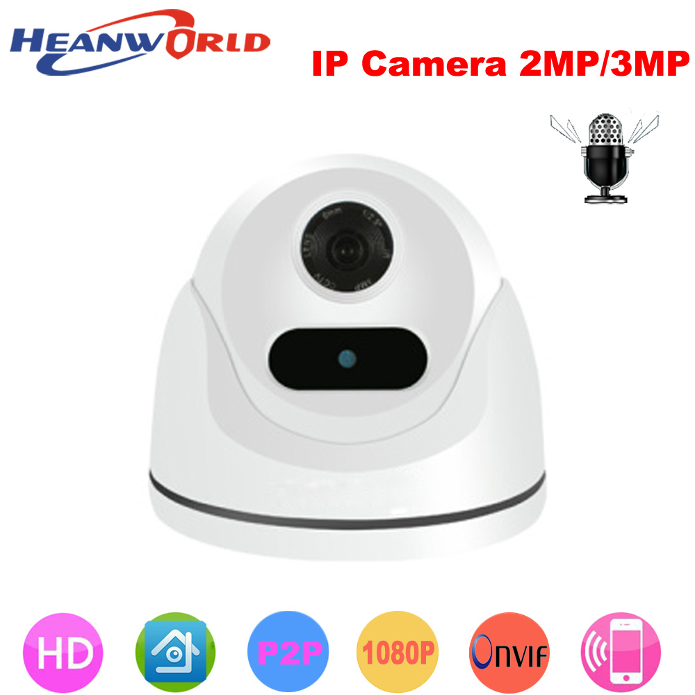 Heanworld H.265+ IP Camera 2MP/3MP Mini Dome camera indoor HD webcam Night Vision Security CCTV Network Full Color camera