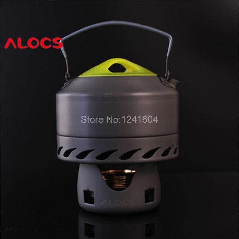 Alocs 0.9L Outdoor Water Kettles Camping <font><b>Hard</b></font> Aluminum Water Tea Coffee Kettle Picnic Tea Coffee Pot Cookware Set 200g CW-K07