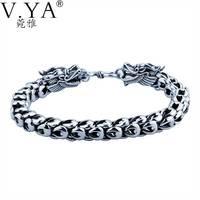 Подлинная 100% реального Pure 925 Серебряный браслет 5-7 мм Толщина Дракон Весы Браслеты для Для мужчин Для женщин тонкой ювелирные изделия YB11