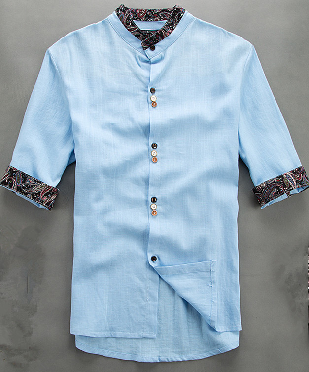 Mandarin Collar Shirts For Men