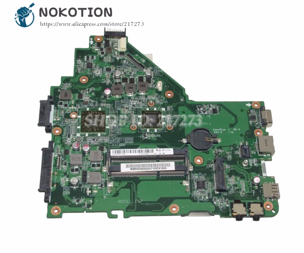 NOKOTION MBRK206001 MB.RK206.001 For Acer aspire 4250 Laptop Motherboard DA0ZQPMB6C0 DDR3 with Processor onboardNOKOTION MBRK206001 MB.RK206.001 For Acer aspire 4250 Laptop Motherboard DA0ZQPMB6C0 DDR3 with Processor onboard