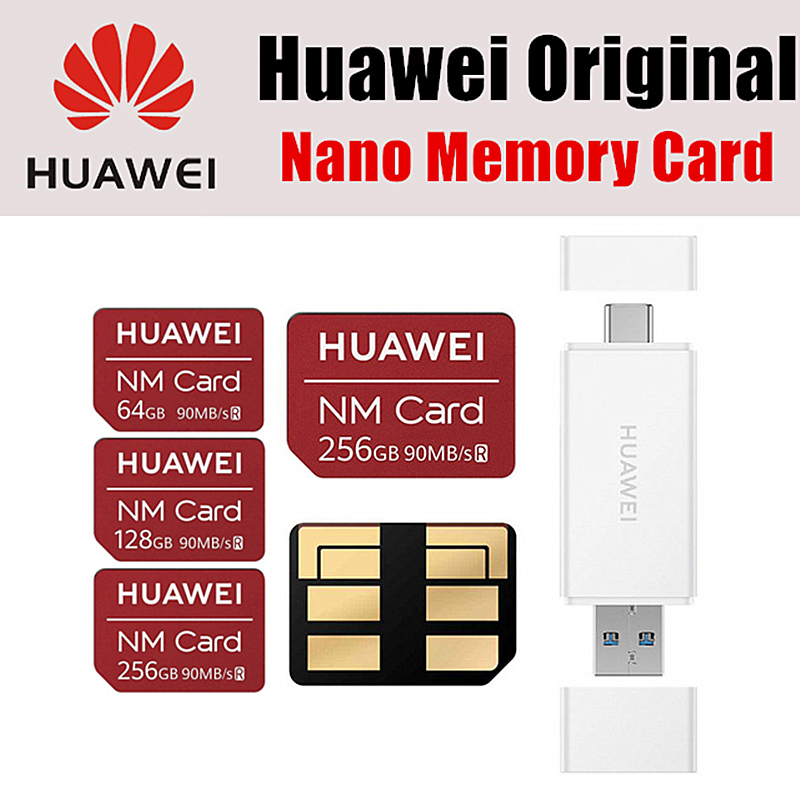 Huawei NM Card 100% Original 90MB/s 64GB/128GB/256GB Apply to Mate20 Pro Mate20 X P30 With USB3.1 Gen 1 Nano Memory Card Reader(China)