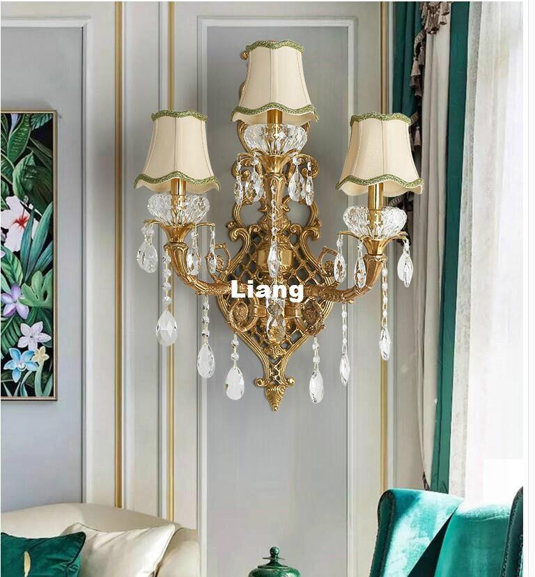 Livraison Gratuite Rétro En Laiton Lampe 110 V ~ 220 V Éclairage Intérieur Mur Lampe E14 Chambre Éclairage Mural Antique Bronze Salon Lumières