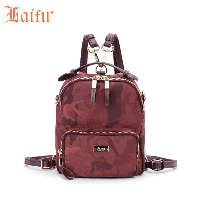 Laifu Brand Design 2017 Multi purpose Mini Nylon Backpack Waterproof Ladies Camouflage Bag Casual School Bag