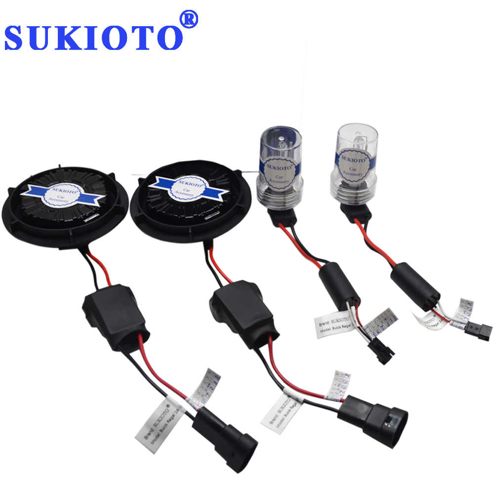 SUKIOTO NO Error 55W CANBUS HID XENON KIT 9012 HIR2 bulbs for GL8 Regal Envision VERANO headlight 9012 bixenon projector lens