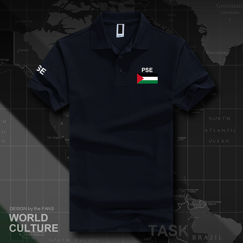 State of Palestine Palestinian   polo   shirts men short sleeve white brands printed for country 2017 cotton nation team flag PS PSE