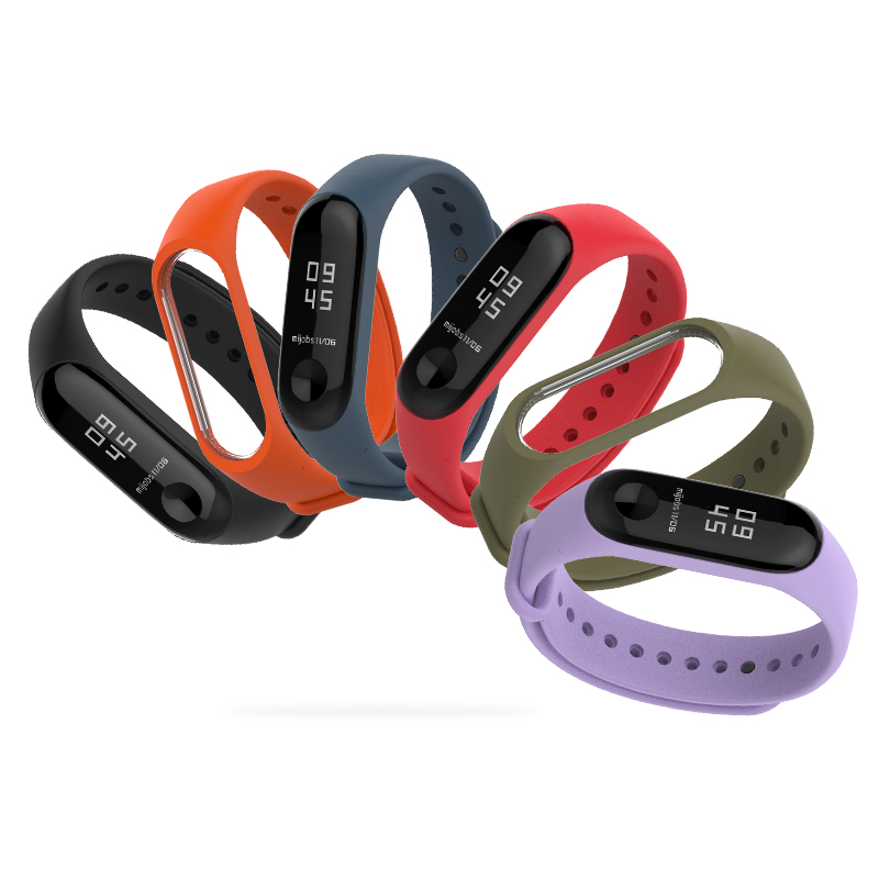 Image 2 - Bracelet Mijobs Mi Band 3 4 Strap Bracelet Silicone Wristband Miband 3 Strap Smart mi band3 Wrist for for Xiaomi Mi Band 3 Strap-in Smart Accessories from Consumer Electronics