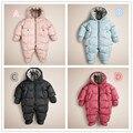 2015 quente do bebê macacão de bebê menino roupas de inverno espessamento com capuz macacão à prova de vento bebê roupa roupas