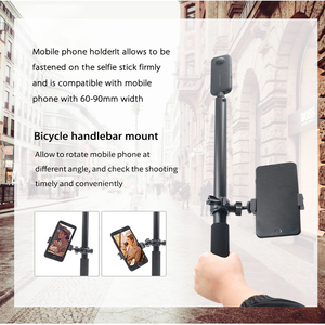 Image 5 - Alüminyum direk süper uzun Selfie sopa telefon tutucu smartphone için/Insta360 One X aksesuarları EVO 360 kamera 360