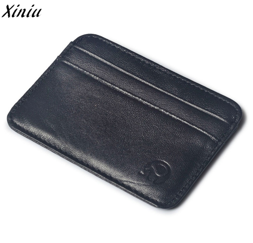 100% brand new Men 's Fashion Mini Wallet Men Women Leather Credit Card Holder Business Card Case Porte Carte Bancaire #9718 hl062 2 new men s 100