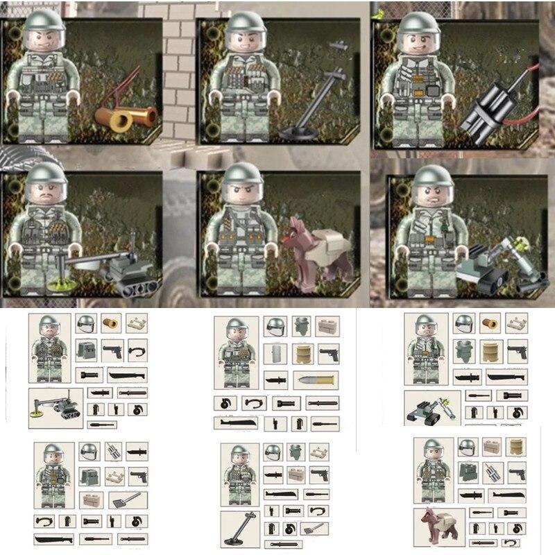 Бомб спецназ Squad мировой войны в стиле милитари пистолет оружие солдата строительные блоки кирпичи рисунках игрушка мальчика Детский подар... ...