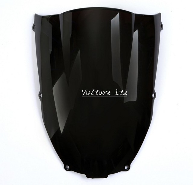 Smoke Black Wave Windshield Fairing Windscreen For Kawasaki Ninja ZX6R 2000-2002  ZZR 600  05-09