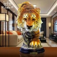 Ручная гравировка художественное произведение Тигр домашней обстановки Декор творческая гостиная ТВ украшение кабинета ремесел продвиже